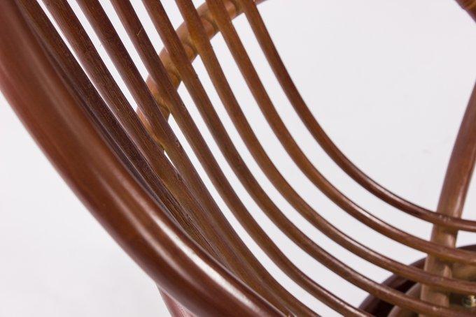 Кресло-качалка Swivel Rocker с подушкой коньяк