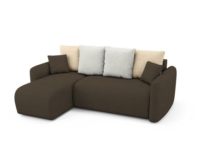 Угловой Диван-кровать Arti левый темно-коричневого цвета