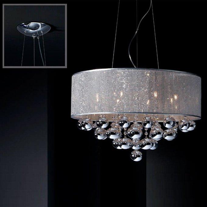 Подвесной светильник Schuller ANDROMEDA  из полированной хромированной стали