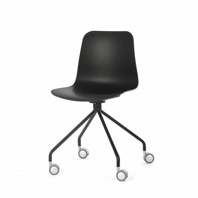 Стул Glide на колесиках черного цвета