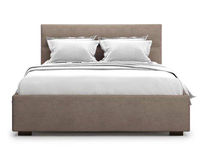 Кровать Garda 160х200 светло-коричневого цвета с подъемным механизмом
