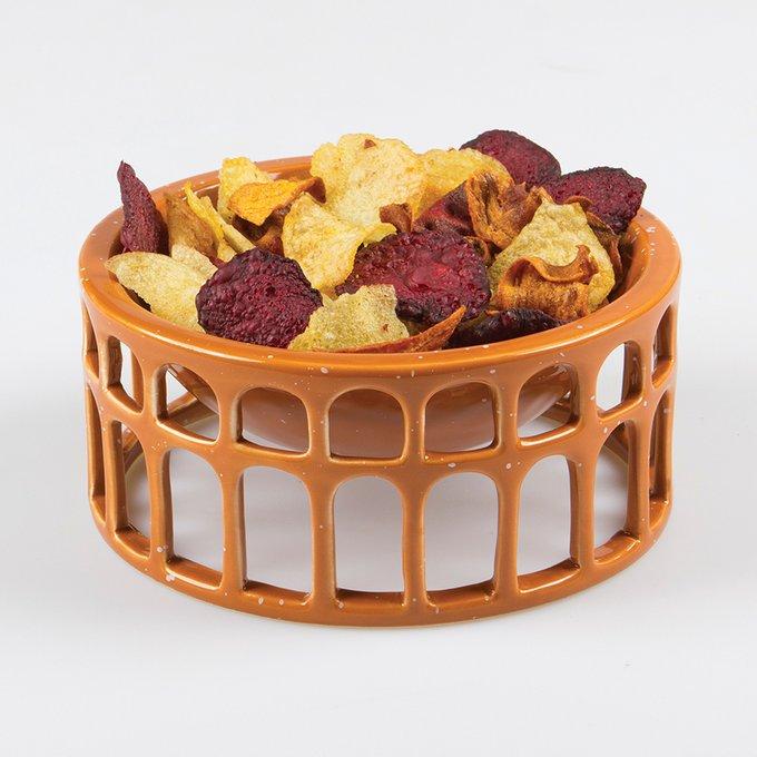 Миска сервировочная керамическая Doiy hestia оранжевая