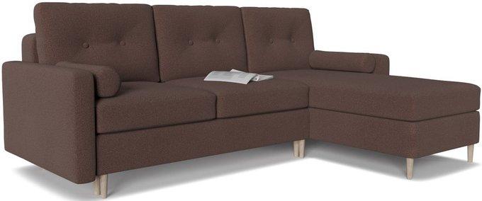 Диван-кровать угловой Белфаст 2 коричневого цвета