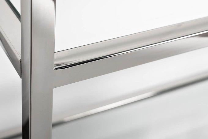 Стеллаж из стали и стекла