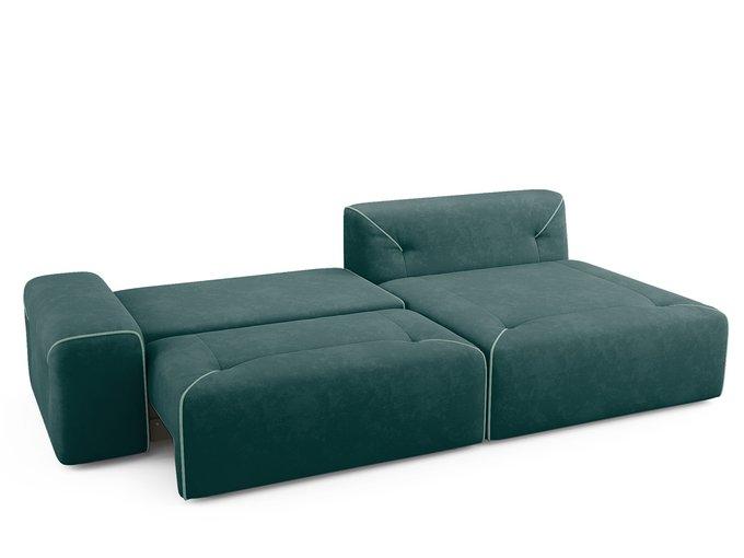 Угловой диван-кровать Portu темно-бирюзового цвета
