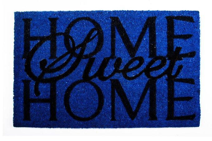 Придверный коврик синего цвета 45х75