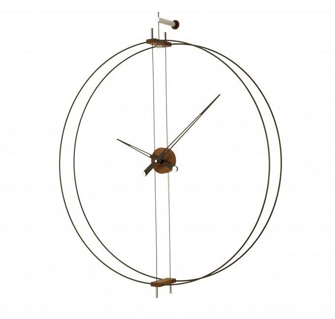 Настенные часы Barcelona со стрелками из дерева ореха