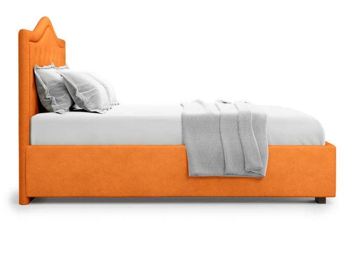 Кровать Tibr без подъемного механизма 160х200 оранжевого цвета