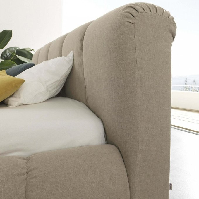 Кровать Mobili серого цвета 180х200