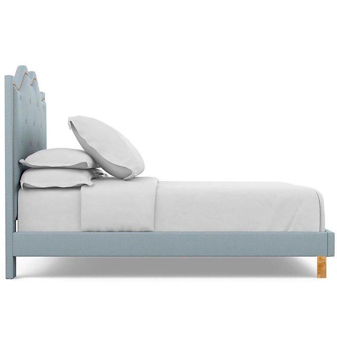 Кровать Williams голубого цвета 160x200