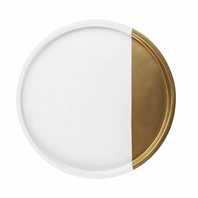 Поднос Qingdao бело-золотого цвета