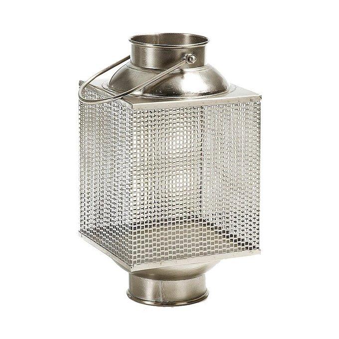 Декоративный фонарь-подсвечник Julia Grup Bree из никелированного металла