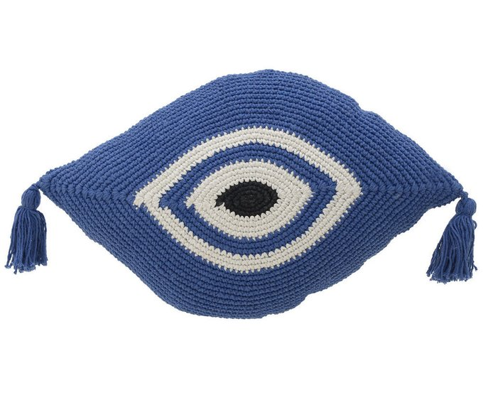 Декоративная подушка синего цвета