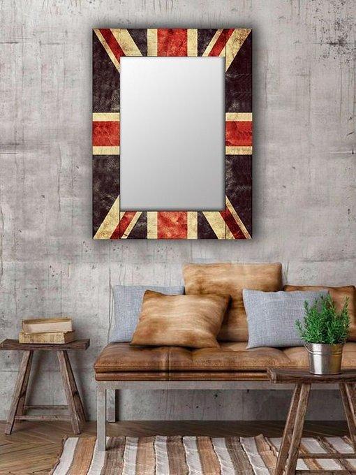 Настенное зеркало Британия в раме из массива сосны 65х80