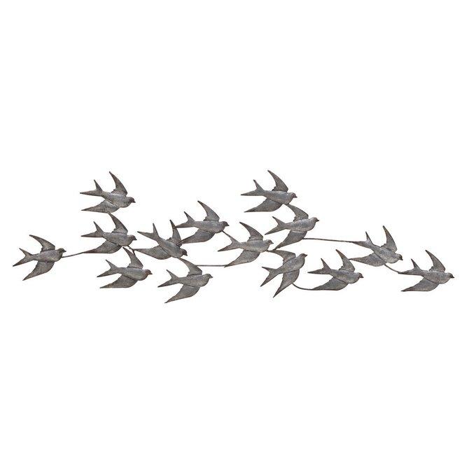 Декор настенный Птицы серого цвета
