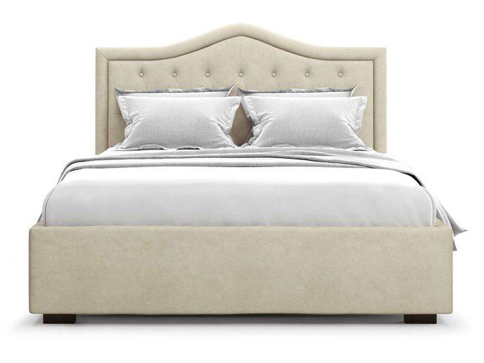 Кровать Tibr без подъемного механизма 160х200 бежевого цвета