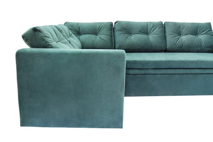Угловой диван-кровать Louis зеленого цвета