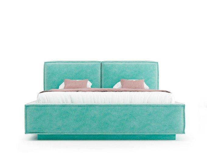 Кровать Verde мятного цвета с ортопедическим основанием 180х200