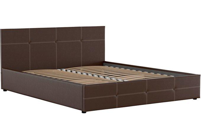 Кровать Синди 160х200 без подъемного механизма шоколадного цвета
