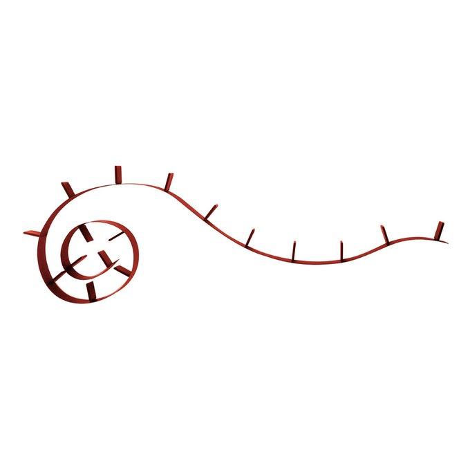 Полка книжная Bookworm красного цвета