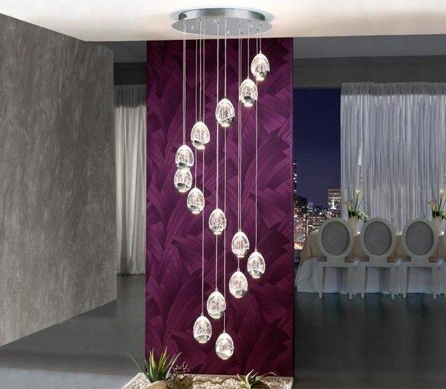 Подвесная светодиодная люстра Schuller Rocio с плафонами из стекла