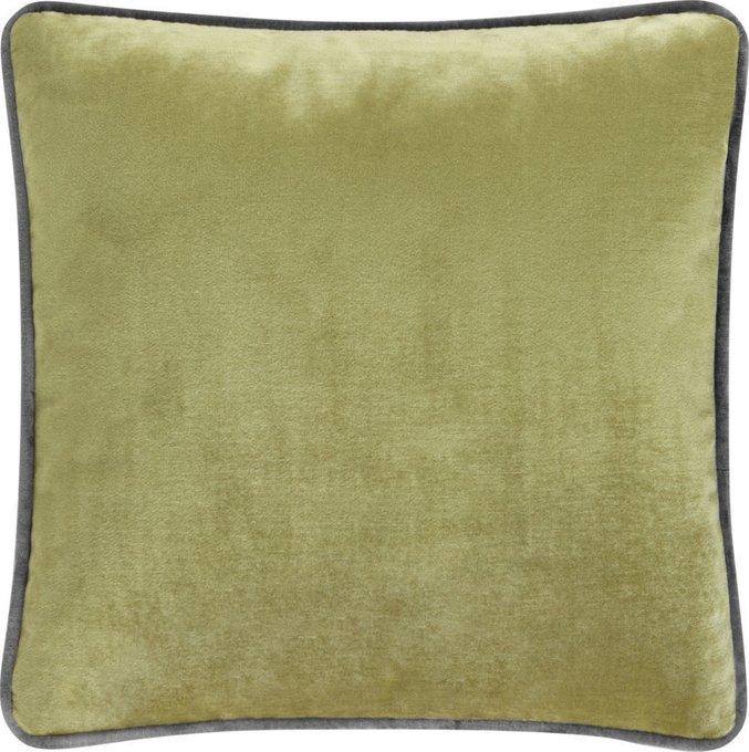 Подушка с обивкой из светло-зелёной ткани