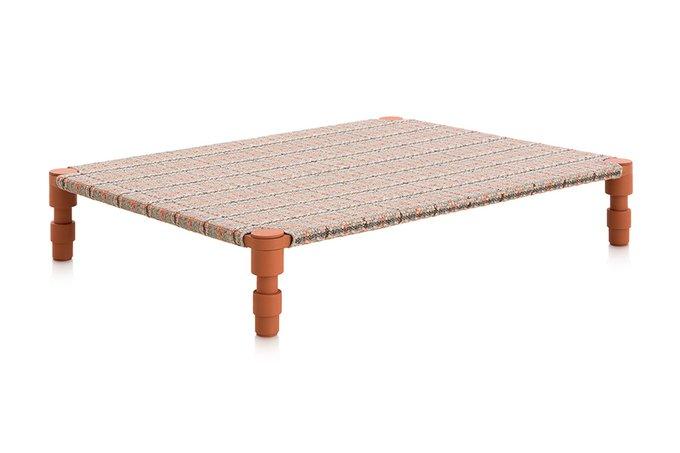 Индийская кровать одинарная Tartan terracotta