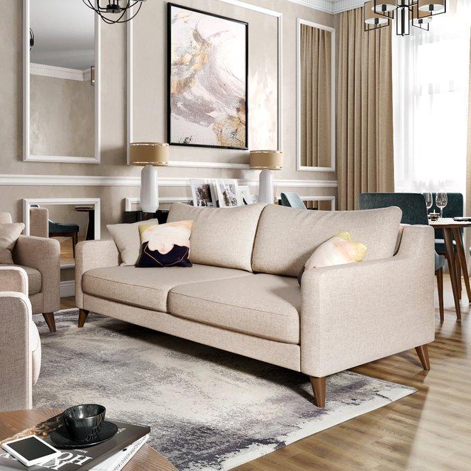 Двухместный диван Mendini MT бежевого цвета