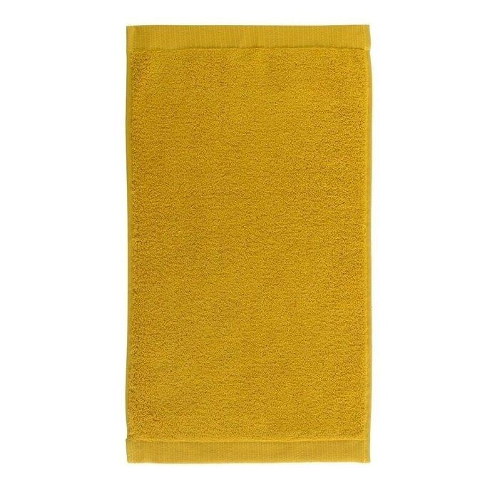 Полотенце для лица из хлопка горчичного цвета