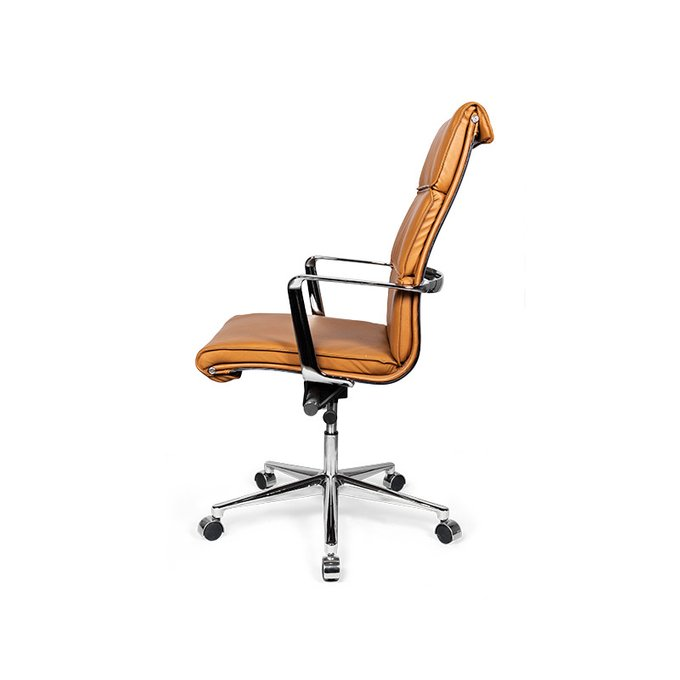 Кресло офисное Costway High оранжевого цвета