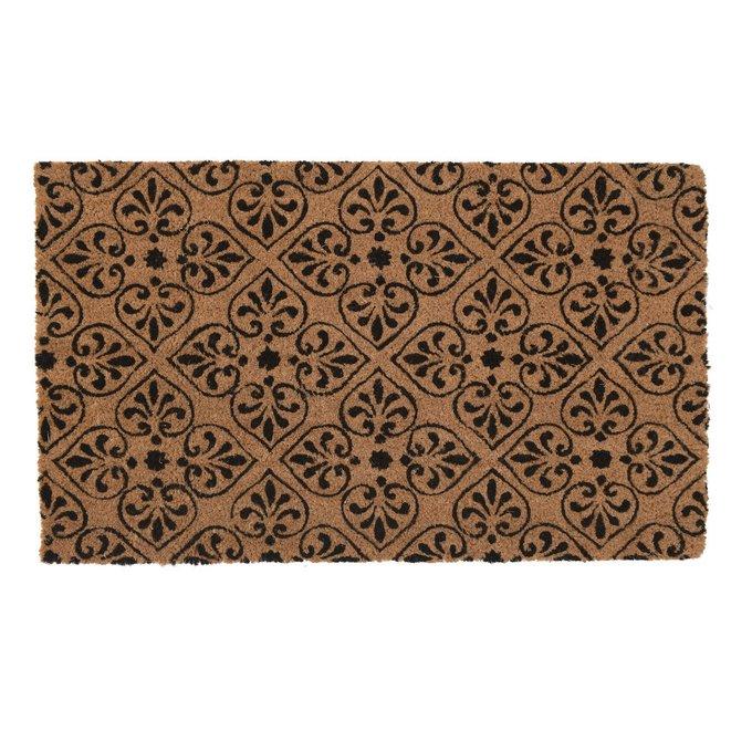 Придверный коврик коричневого цвета 45х75