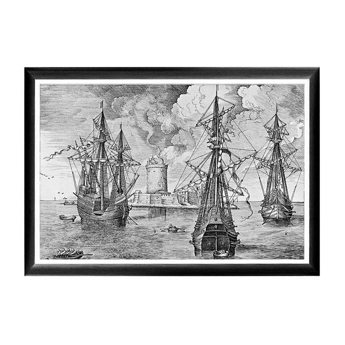Арт-постер Брейгель Три военных корабля