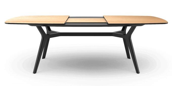 Раскладной стол Johann oak black 160-220 дуб