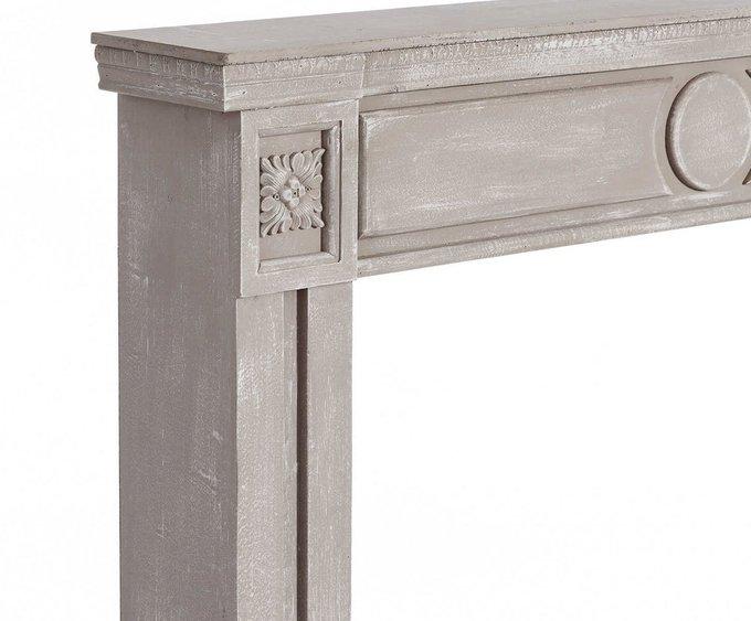 Портал для камина  серого цвета