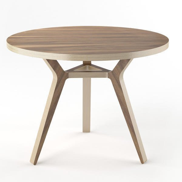 Обеденный стол Unika Täby walnut 90 орех