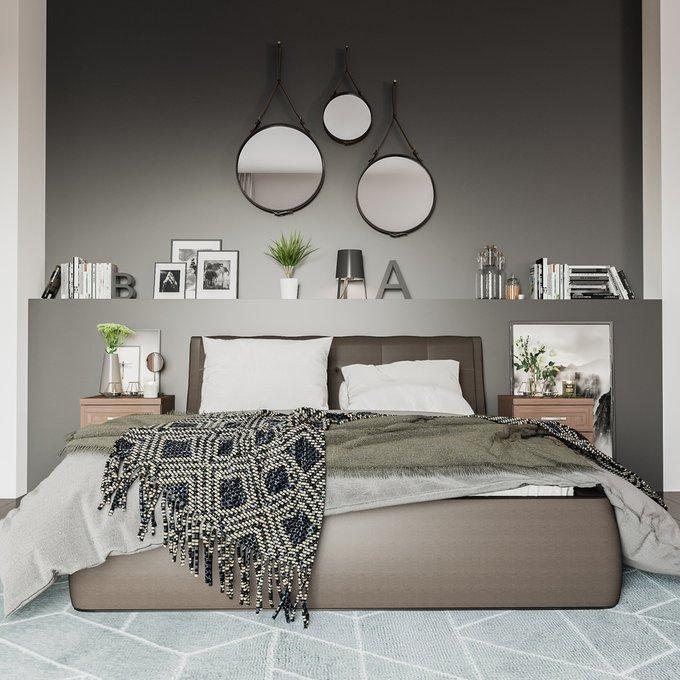 Кровать Гесиона 180х200 черного цвета с подъемным механизмом
