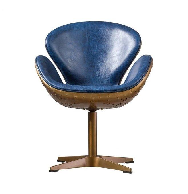 Кресло Swan Chateau синего цвета