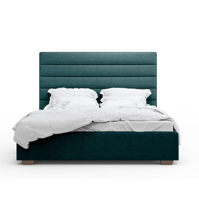 Кровать Джейси зеленого цвета 140х200 с подъемным механизмом