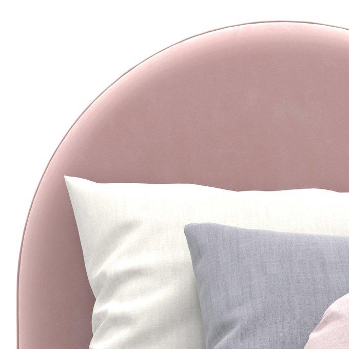 Односпальная кровать Alana на ножках розового цвета 80х160