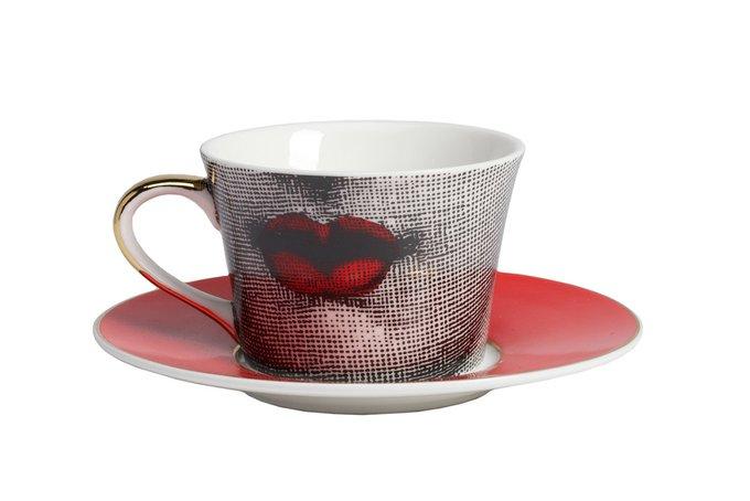 Чайный сервиз Faces Piero Fornasetti Red
