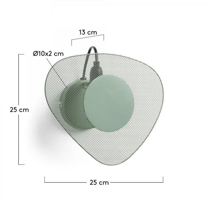 Настенный светильник Pegg зеленого цвета