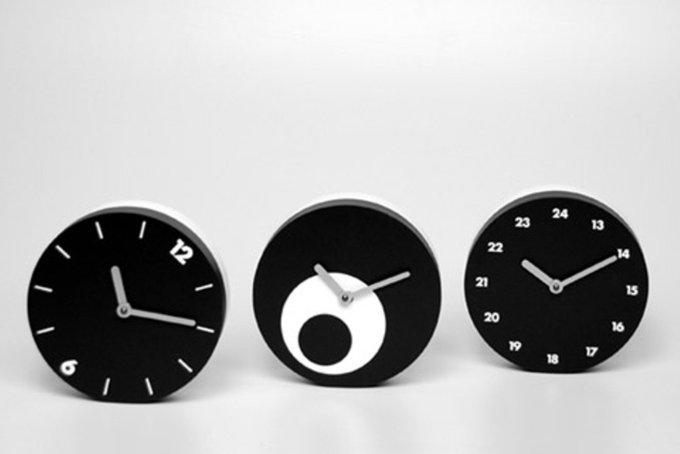 "Часы двухсторонние ""Tempoinstabile Quadrante Numeri"""