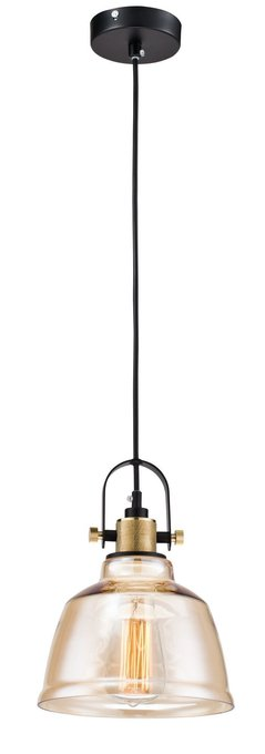 Подвесной светильник Irving с плафоном янтарного цвета