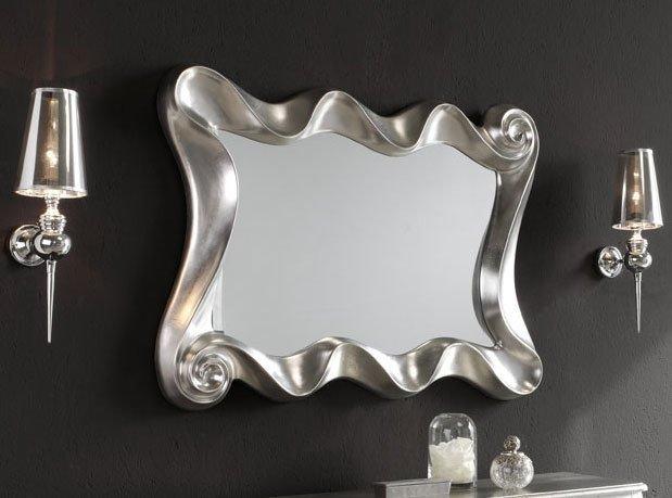 Настенное зеркало Dupen Silver в раме серебристого цвета