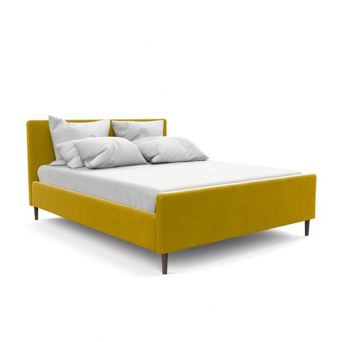 Двухспальная кровать Кристина желтого цвета 160х200