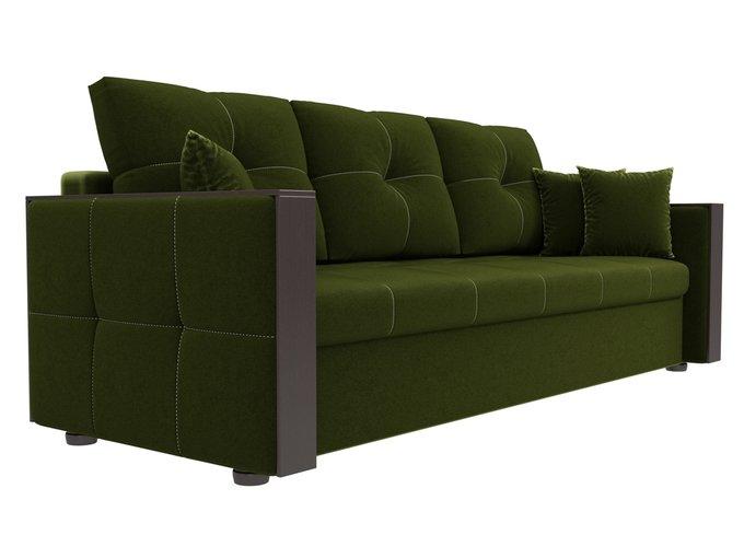 Прямой диван-кровать Валенсия зеленого цвета