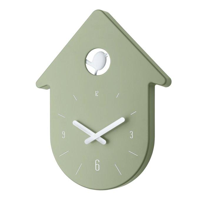 Часы настенные Toc-Toc зеленого цвета