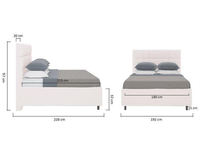 Кровать Wales Велюр Пыльная роза 180х200
