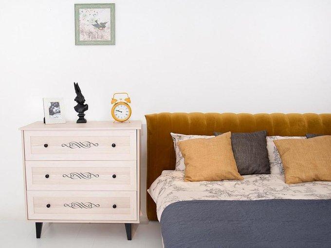 """Кровать """"Queen Anastasia"""" с темно-коричневым изголовьем 160х200"""
