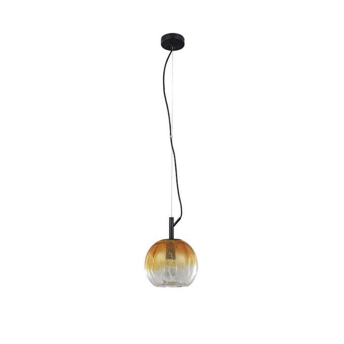 Подвесной светильник Bahamas с плафоном янтарного цвета
